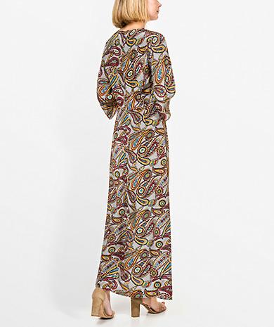 cc05caca8bb Vestido comprido com estampado Vestidos Mulher